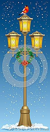 Christmas street lantern