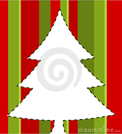 Christmas striped card