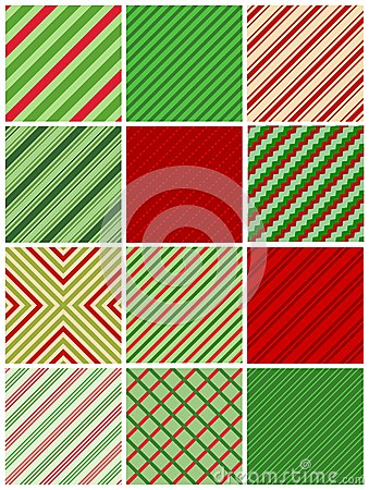 Christmas stripes seamless