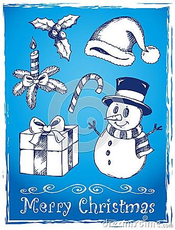 Christmas stylized drawings 2