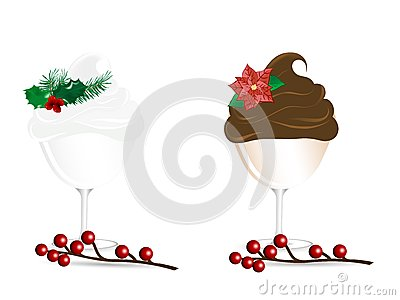 Christmas sundaes