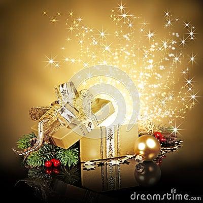 Free Christmas Surprise Gift Box Royalty Free Stock Image - 33427226