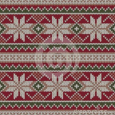 Christmas Sweater Design. Seamless Knitting Pattern. Winter Holi Stock Vector...