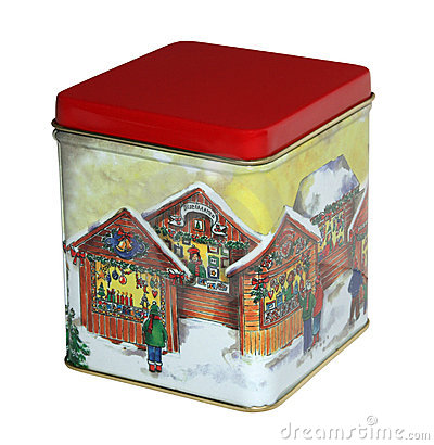 Christmas sweets box with red cover