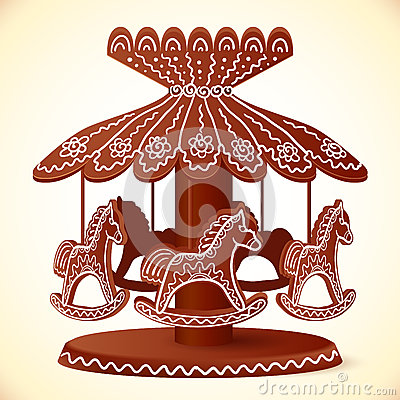 Free Christmas Sweets Toy Horses Chocolate Carousel Royalty Free Stock Photos - 34050178
