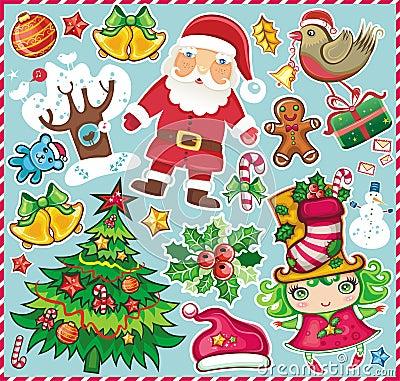 Christmas symbols set 2