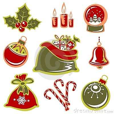 Free Christmas Symbols Set Stock Photos - 7424133