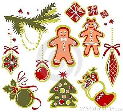 Free Christmas Symbols Set Stock Photography - 7499362