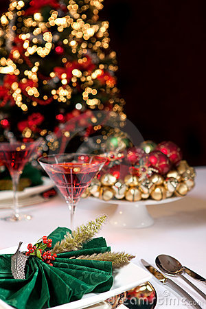 Free Christmas Table And Tree Stock Photos - 10698543