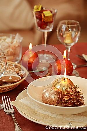 Free Christmas Table Setting Stock Photography - 2897182