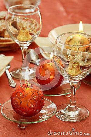 Free Christmas Table Setting Stock Photography - 2897252