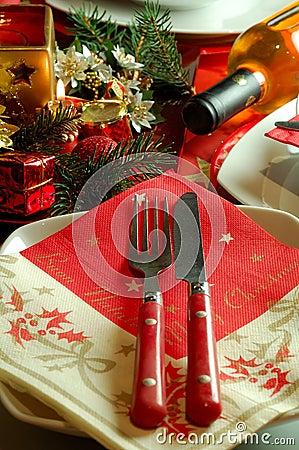 Free Christmas Table Setting Royalty Free Stock Image - 3904996