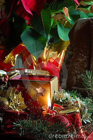 Free Christmas Table Setting Royalty Free Stock Photography - 3904997