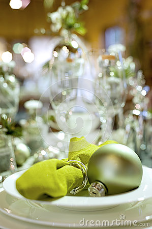 Christmas table setting detail