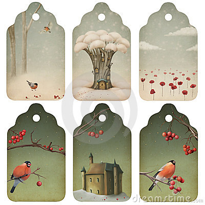 Free Christmas Tags Stock Images - 21184214