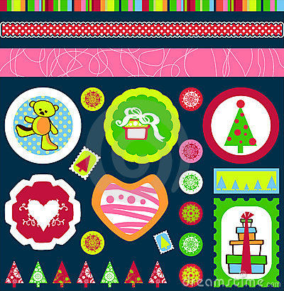 Free Christmas Tags Vector Royalty Free Stock Photography - 3349267
