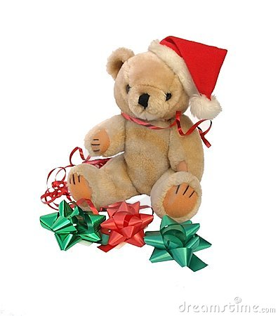 Christmas Teddy Bear with bows