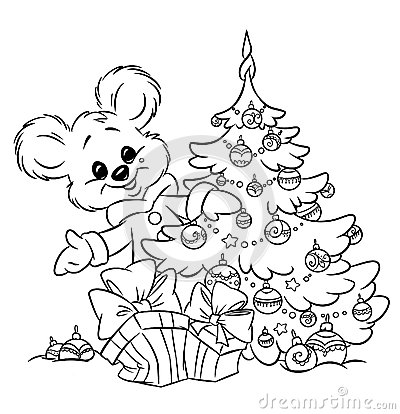 Christmas  teddy-bear tree ornaments  gift colorin