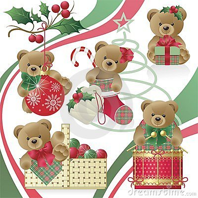 Free Christmas Teddy Bears Royalty Free Stock Photos - 7321208