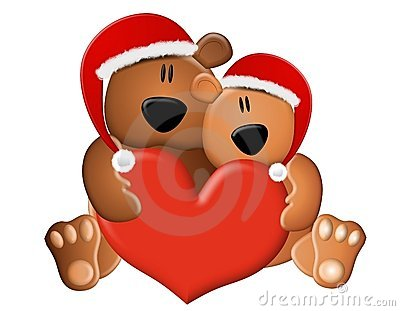 Christmas Teddy Bears Love