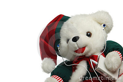 Christmas teddybear with mp3 player