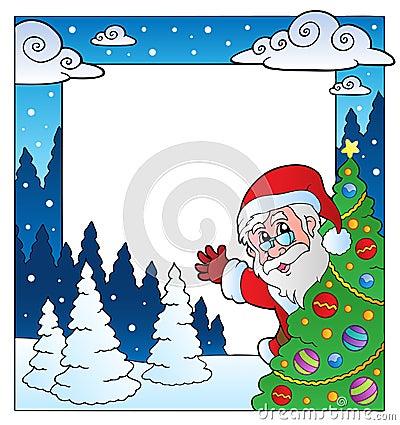 Christmas theme frame 4