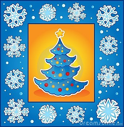 Christmas theme greeting card 5