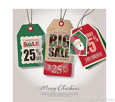 Christmas theme sale tags