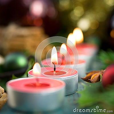 Christmas time, candles