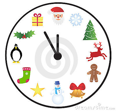 Christmas time clock