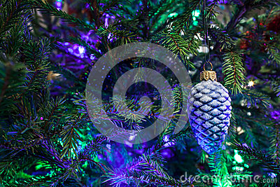 Christmas toy as a pine cone