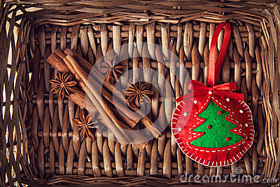Christmas toy and spices