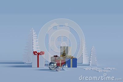 Gifts for the winter holidays Stock Photo