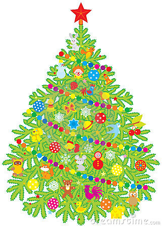 Christmas Tree Royalty Free Stock Photos - Image: 10744128
