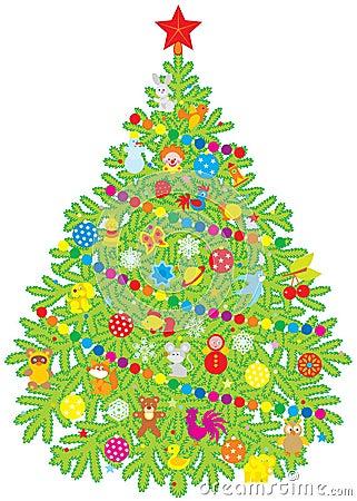 Christmas Tree Royalty Free Stock Photos - Image: 10744128