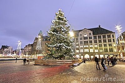 Christmas Tree in Amsterdam the Neth