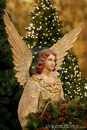 Free Christmas Tree And Angel Stock Images - 5963994