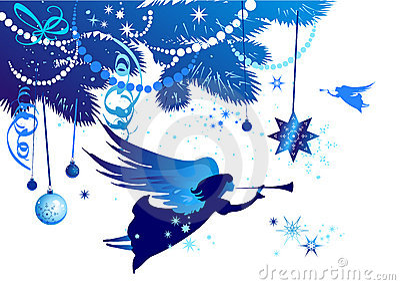 Christmas tree with an angel