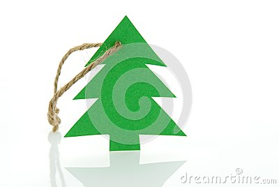 Christmas tree as marker tag