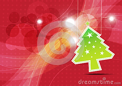 Christmas tree background illustration