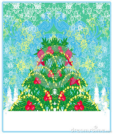 Christmas tree background for your designs