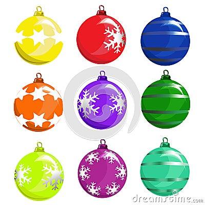 Christmas tree ball vector