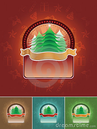 Christmas Tree Banner Set