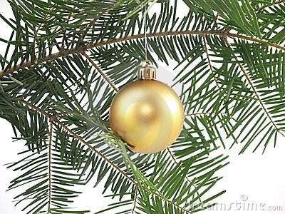 Christmas tree and bauble