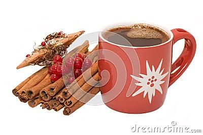 Christmas tree bauble ornament,  star decoration, cinnamon and c