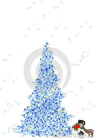 Christmas Tree -Blue-