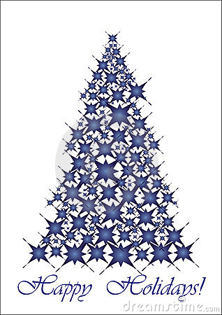 Christmas tree - blue stars