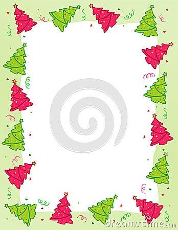 Falling Confetti Border Stock Christmas Tree Border Clip Art Free