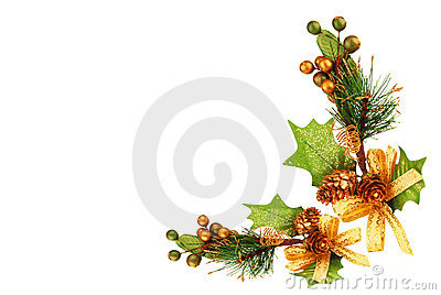 Christmas tree branch ornament