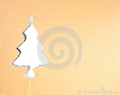 Christmas tree carton paper
